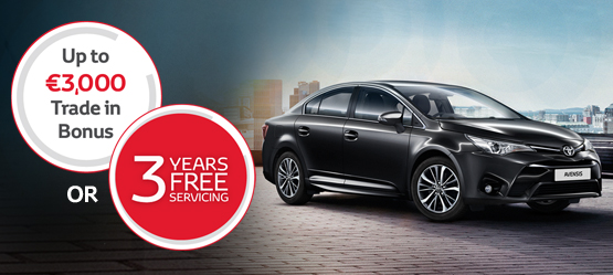 Free Sat Nav worth €865 on selected Avensis models
