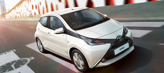 Aygo now with FREE Safety Pack worth €425 including Toyota Safety Sense