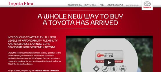 Toyota Flex Finance