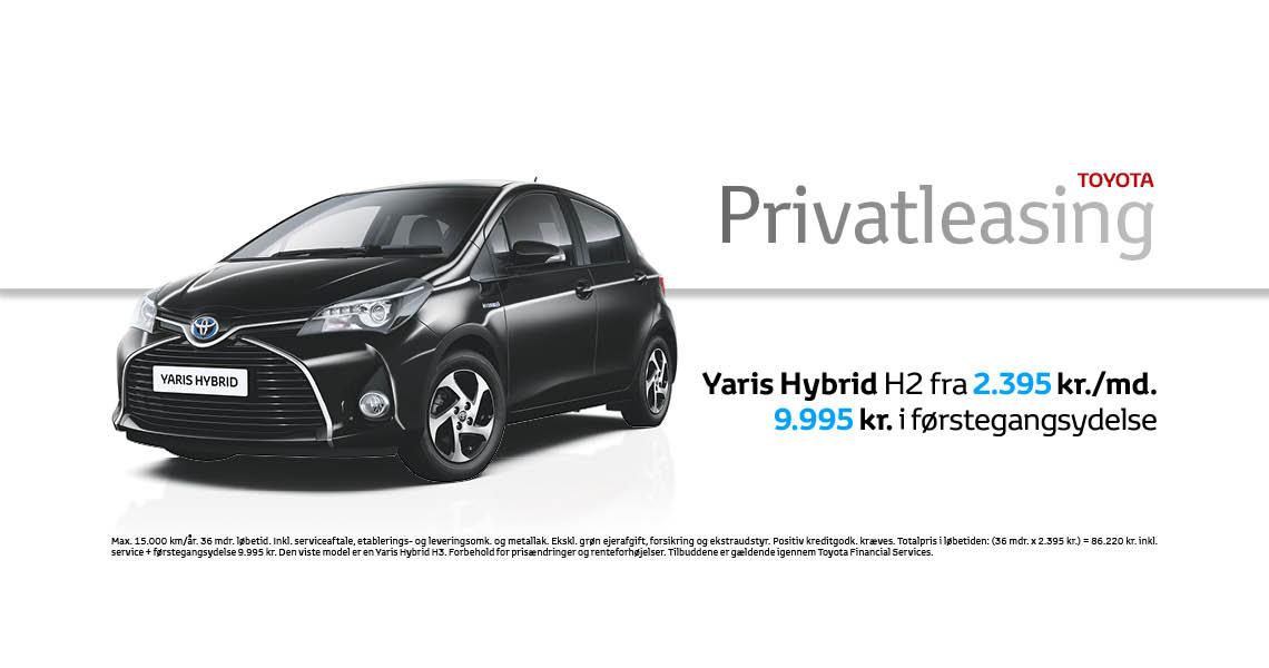 Toyota Yaris privatleasing