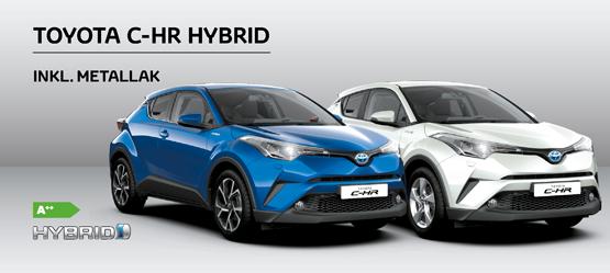 Klæd din nye Toyota C-HR på i en flot farve