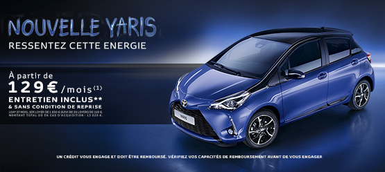 nouvelle toyota yaris france offre du moment. Black Bedroom Furniture Sets. Home Design Ideas