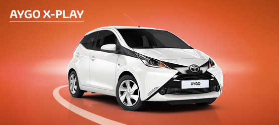AYGO X-Play from £96 + VAT per month† (Contract Hire)