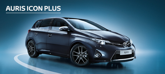Auris Icon Plus from £155 + VAT per month† (Contract Hire)