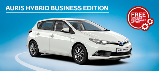 Auris Hybrid Business Edition from £205 + VAT per month† (Contract Hire)