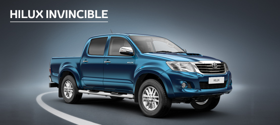 Hilux Invincible from £266 + VAT per month† (Contract Hire)
