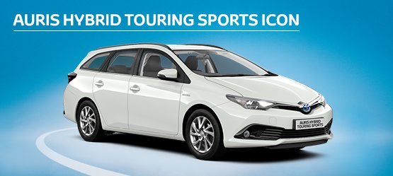 Auris Hybrid Touring Sports Icon with £1,795 advance payment (Motability Users Only).