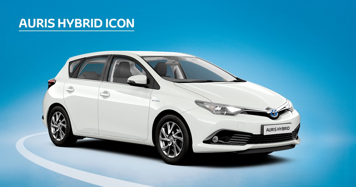Auris Hybrid Icon inc Toyota Safety Sense with £545 advance payment (Motability Users Only).