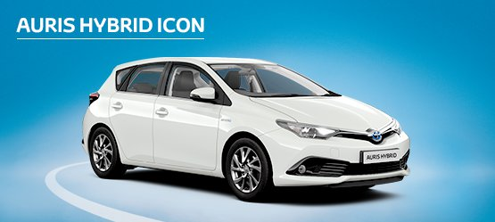 Auris Hybrid Icon with £545 advance payment (Motability Users Only).