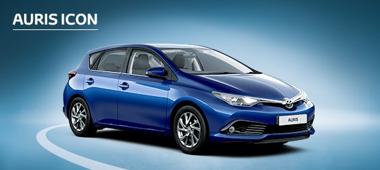 Auris Icon with Nil advance payment (Motability Users Only).
