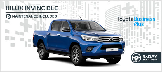 Hilux Invincible Manual £294 + VAT per month* (Maintenance included)