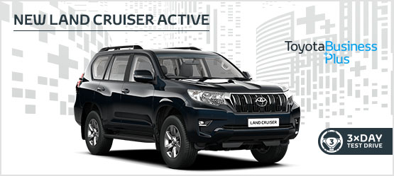 "<h3 style=""text-align: left;""><strong>New Land Cruiser Active £379 + VAT per month* (Customer maintained)</h3></strong>"