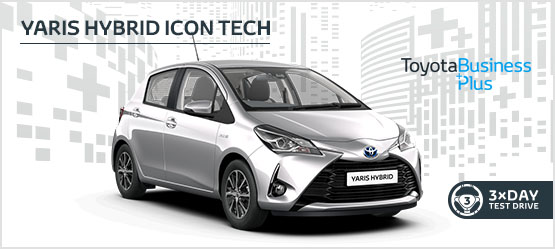 Yaris Hybrid Icon Tech £189 + VAT per month* (Customer maintained)