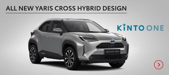 All New Yaris Cross Hybrid Design £208 + VAT per month* (Customer maintained)