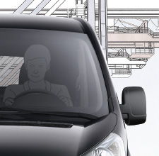 Toyota Proace, Black exterior, front view