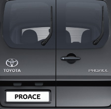 Toyota Proace, Black exterior, rear view