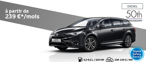 Avensis Touring Sports 1.6 Diesel Comfort avec pack 50th Anniversary