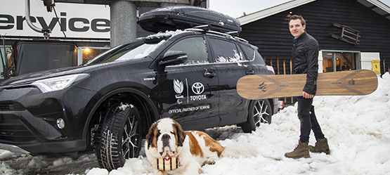 Snowboarder Chris Vos is Toyota ambassadeur